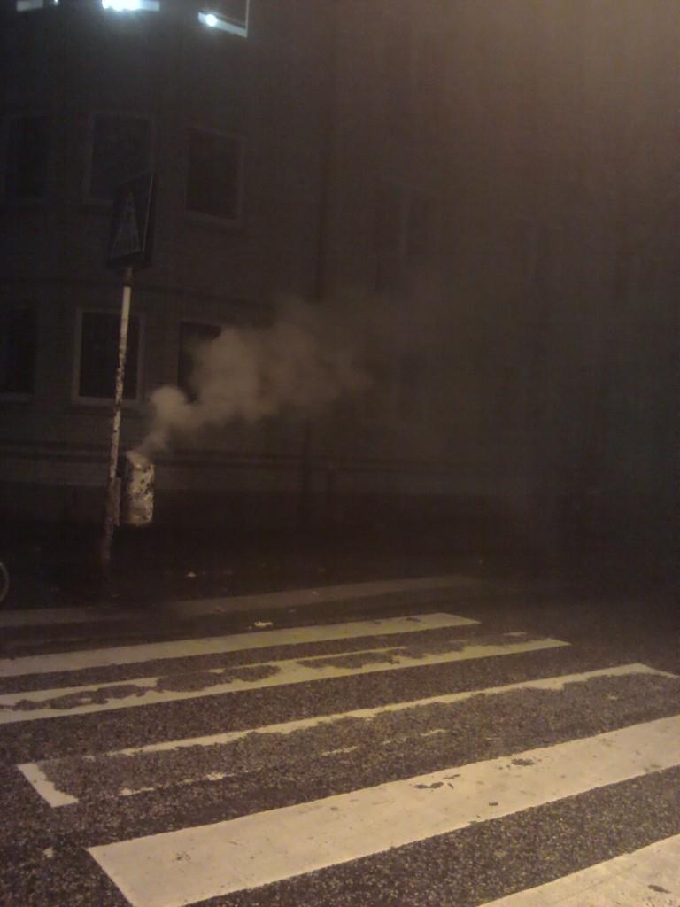 brennende Mülltone in Hamburg